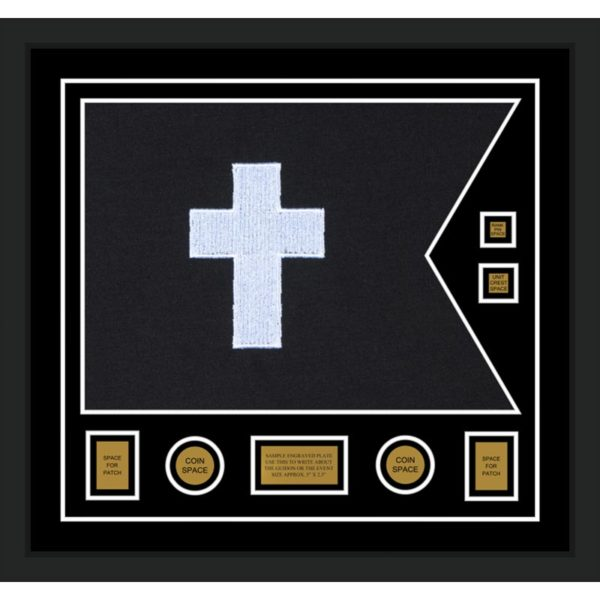 "Chaplain 28"" x 20"" Guidon Design 2820-D3-M5 Framed"