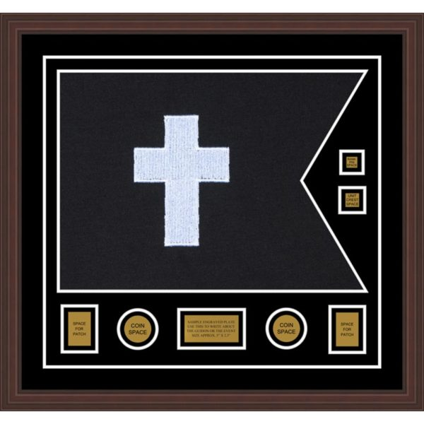 "Chaplain 28"" x 20"" Guidon Design 2820-D3-M6 Framed"