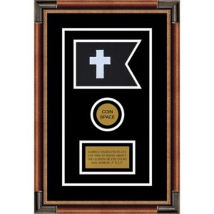 "Chaplain 7"" x 5"" Guidon Design 75-D3-M1 Framed"