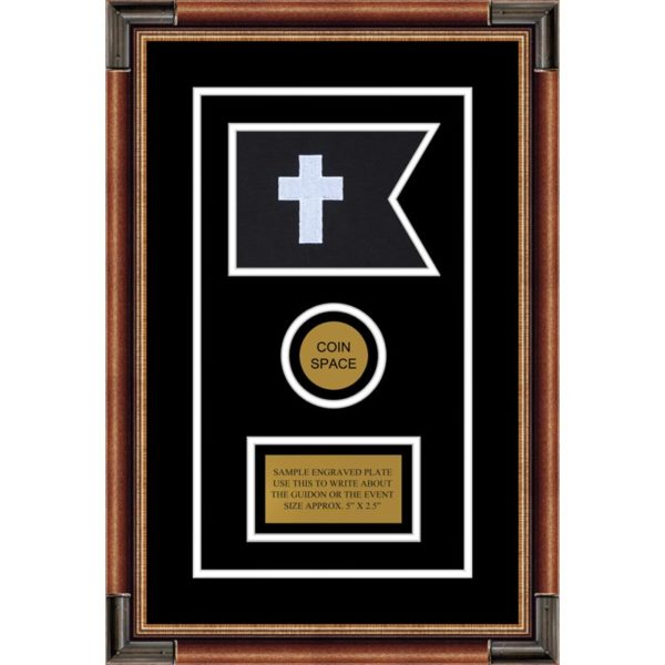 "Chaplain 7"" x 5"" Guidon Design 75-D3-M1 Framed"