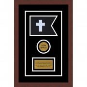 "Chaplain 7"" x 5"" Guidon Design 75-D3-M3 Framed"