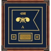 """Chemical Corps 12"""" x 9"""" Guidon Design 129-D1-M1 Framed"""
