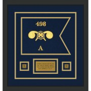 """Chemical Corps 12"""" x 9"""" Guidon Design 129-D1-M2 Framed"""