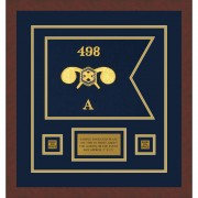 """Chemical Corps 12"""" x 9"""" Guidon Design 129-D1-M3 Framed"""