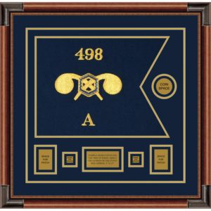 """Chemical Corps 20"""" x 15"""" Guidon Design 2015-D1-M4 Framed"""