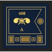 """Chemical Corps 20"""" x 15"""" Guidon Design 2015-D1-M5 Framed"""