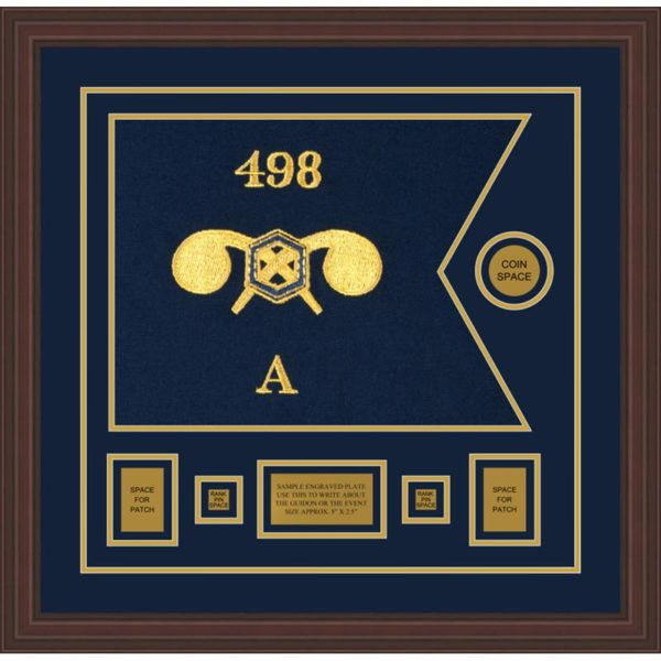 """Chemical Corps 20"""" x 15"""" Guidon Design 2015-D1-M6 Framed"""