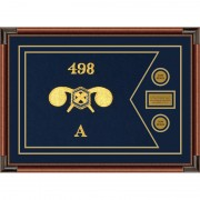 "Chemical Corps 28"" x 20"" Guidon Design 2820-D1-M4 Framed"
