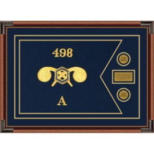 """Chemical Corps 28"""" x 20"""" Guidon Design 2820-D1-M4 Framed"""