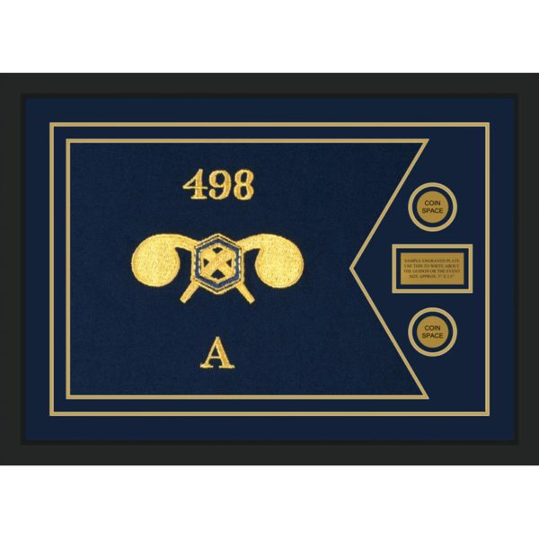"""Chemical Corps 28"""" x 20"""" Guidon Design 2820-D1-M5 Framed"""