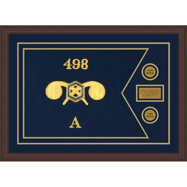 """Chemical Corps 28"""" x 20"""" Guidon Design 2820-D1-M6 Framed"""