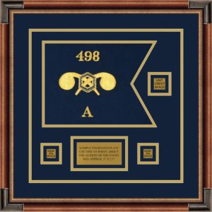 """Chemical Corps 12"""" x 9"""" Guidon Design 129-D2-M1 Framed"""