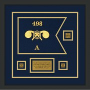 """Chemical Corps 12"""" x 9"""" Guidon Design 129-D2-M2 Framed"""