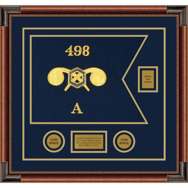 """Chemical Corps 20"""" x 15"""" Guidon Design 2015-D2-M4 Framed"""