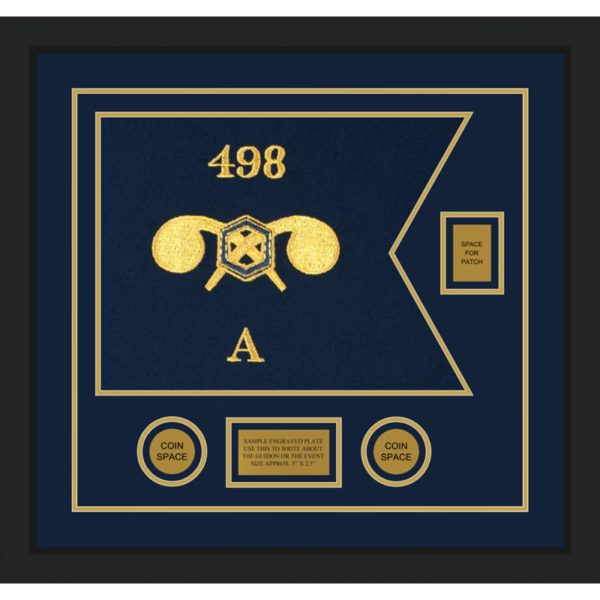"""Chemical Corps 20"""" x 15"""" Guidon Design 2015-D2-M5 Framed"""