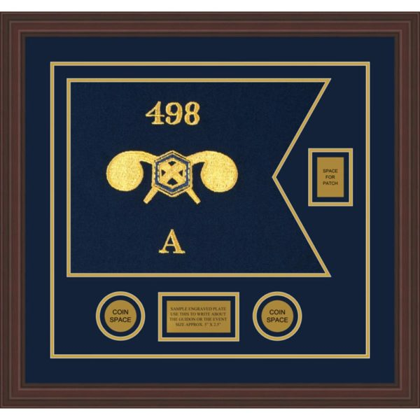 """Chemical Corps 20"""" x 15"""" Guidon Design 2015-D2-M6 Framed"""