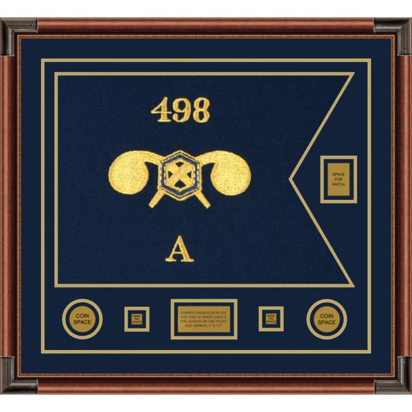 """Chemical Corps 28"""" x 20"""" Guidon Design 2820-D2-M4 Framed"""