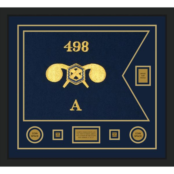 """Chemical Corps 28"""" x 20"""" Guidon Design 2820-D2-M5 Framed"""