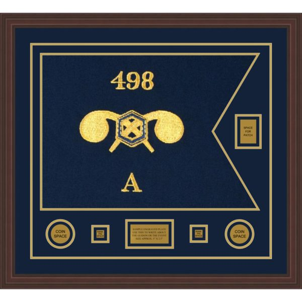 """Chemical Corps 28"""" x 20"""" Guidon Design 2820-D2-M6 Framed"""