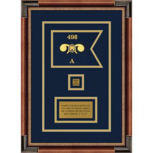 "Chemical Corps 7"" x 5"" Guidon Design 75-D2-M1 Framed"