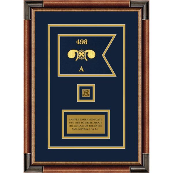 """Chemical Corps 7"""" x 5"""" Guidon Design 75-D2-M1 Framed"""