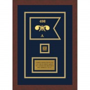 """Chemical Corps 7"""" x 5"""" Guidon Design 75-D2-M3 Framed"""