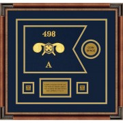 """Chemical Corps 12"""" x 9"""" Guidon Design 129-D3-M1 Framed"""