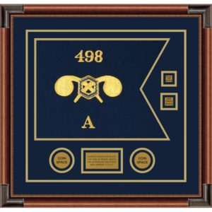 """Chemical Corps 20"""" x 15"""" Guidon Design 2015-D3-M4 Framed"""