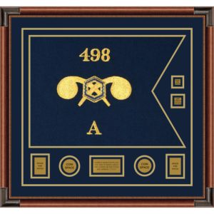 """Chemical Corps 28"""" x 20"""" Guidon Design 2820-D3-M4 Framed"""
