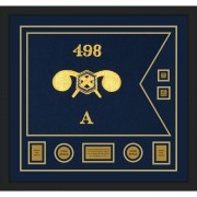 """Chemical Corps 28"""" x 20"""" Guidon Design 2820-D3-M5 Framed"""