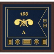 """Chemical Corps 28"""" x 20"""" Guidon Design 2820-D3-M6 Framed"""