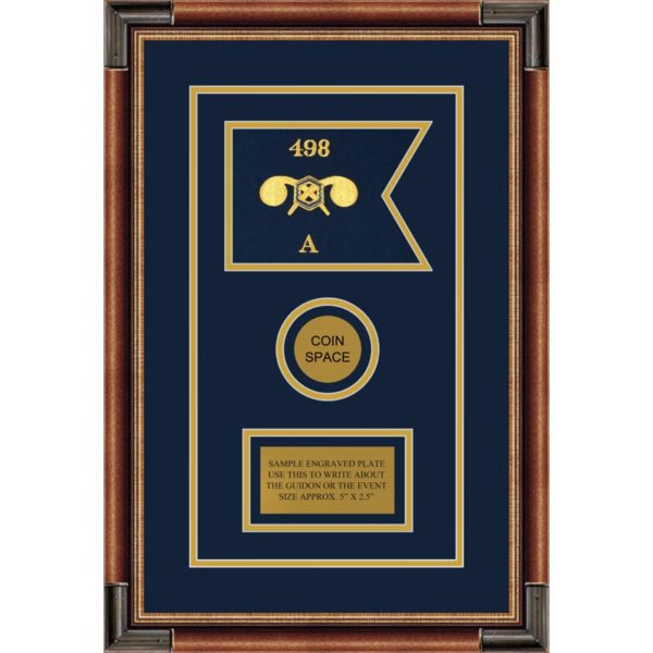 """Chemical Corps 7"""" x 5"""" Guidon Design 75-D3-M1 Framed"""