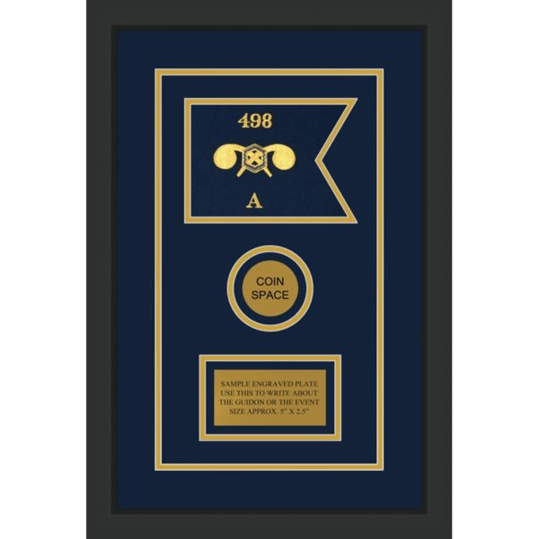 """Chemical Corps 7"""" x 5"""" Guidon Design 75-D3-M2 Framed"""