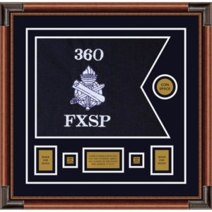 "Civil Affairs 20"" x 15"" Guidon Design 2015-D1-M4 Framed"