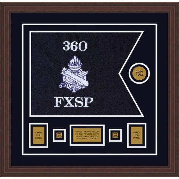 "Civil Affairs 20"" x 15"" Guidon Design 2015-D1-M6 Framed"