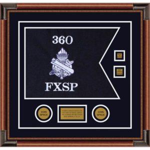 "Civil Affairs 20"" x 15"" Guidon Design 2015-D3-M4 Framed"