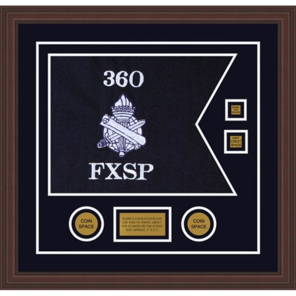 "Civil Affairs 20"" x 15"" Guidon Design 2015-D3-M6 Framed"
