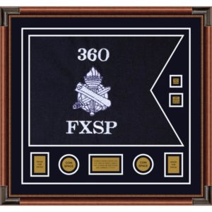 "Civil Affairs 28"" x 20"" Guidon Design 2820-D3-M4 Framed"