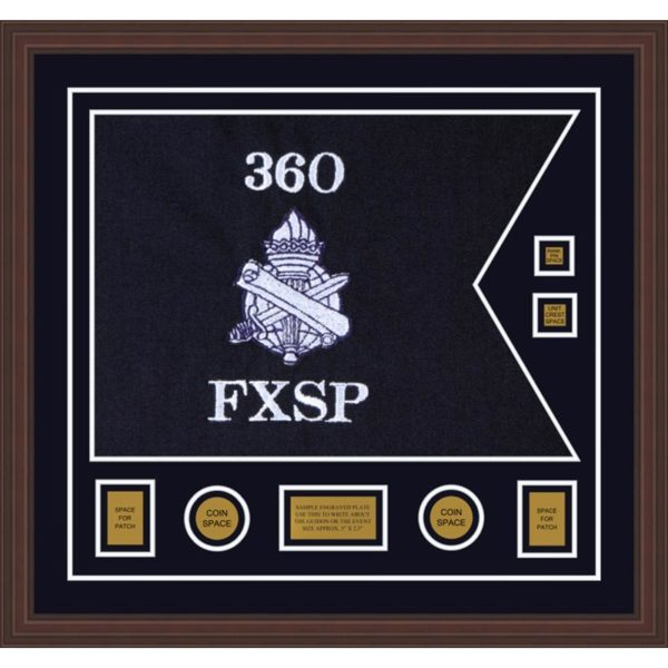 "Civil Affairs 28"" x 20"" Guidon Design 2820-D3-M6 Framed"
