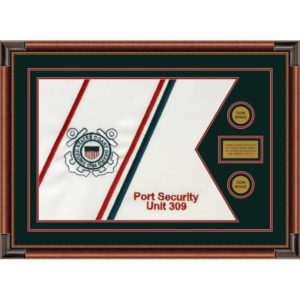 "Coast Guard 28"" x 20"" Guidon Design 2820-D1-M4 Framed"