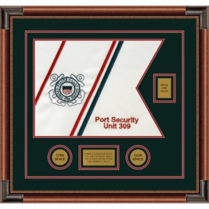 "Coast Guard 20"" x 15"" Guidon Design 2015-D2-M4 Framed"