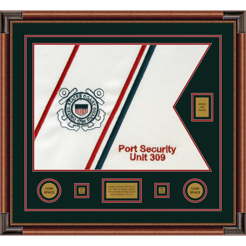 "Coast Guard 28"" x 20"" Guidon Design 2820-D2-M4 Framed"
