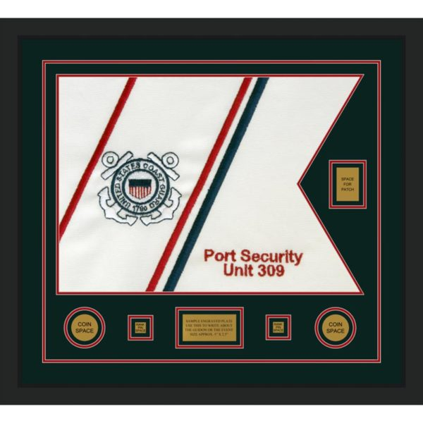 "Coast Guard 28"" x 20"" Guidon Design 2820-D2-M5 Framed"