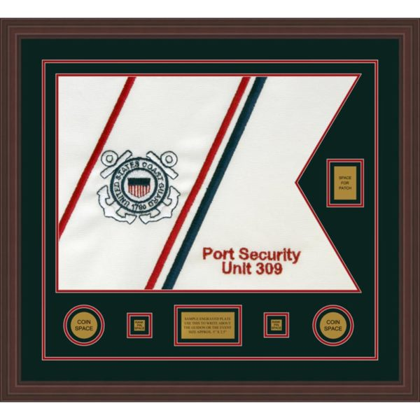 "Coast Guard 28"" x 20"" Guidon Design 2820-D2-M6 Framed"