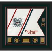 """Coast Guard 28"""" x 20"""" Guidon Design 2820-D3-M5 Framed"""
