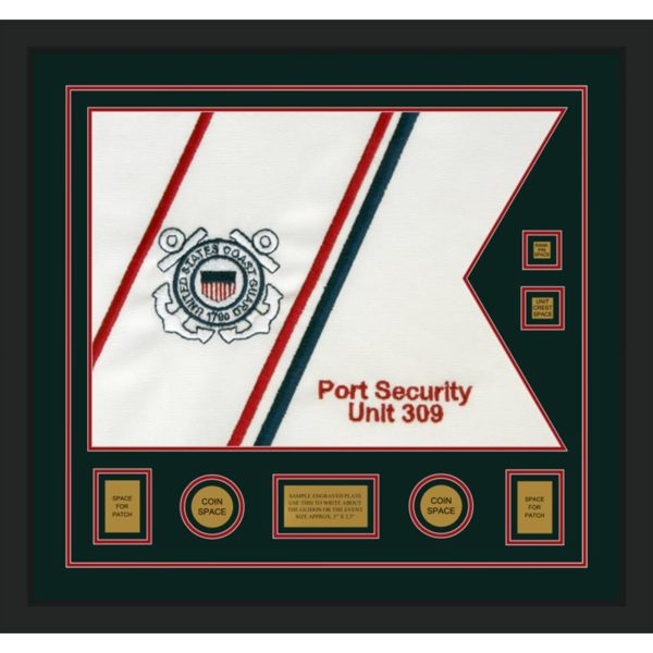 "Coast Guard 28"" x 20"" Guidon Design 2820-D3-M5 Framed"