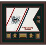 """Coast Guard 28"""" x 20"""" Guidon Design 2820-D3-M6 Framed"""