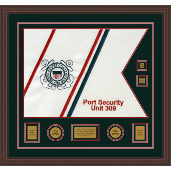 "Coast Guard 28"" x 20"" Guidon Design 2820-D3-M6 Framed"
