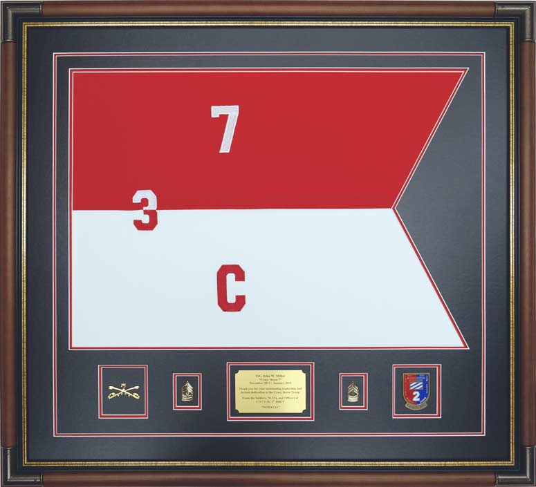 embroidered cavalry guidon custom framed