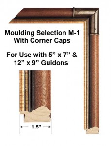 Framed Guidons Moulding Selection M-1 With Corner Caps